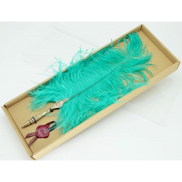 Ostrich feather ball pen