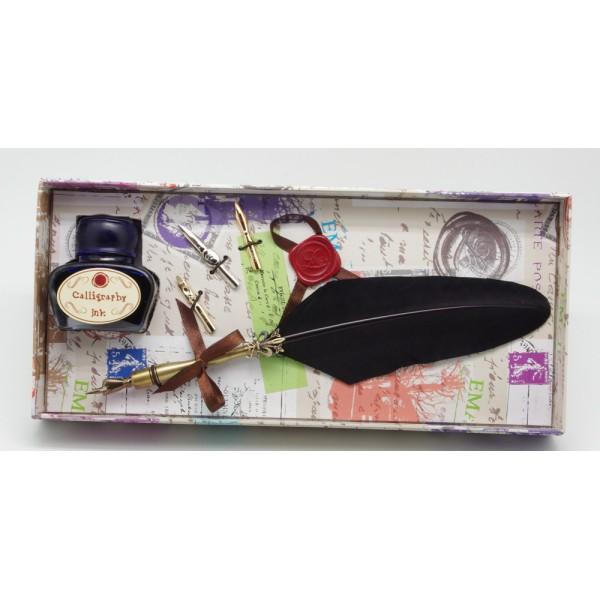 Calligraphy dip pen set, Turkey feather