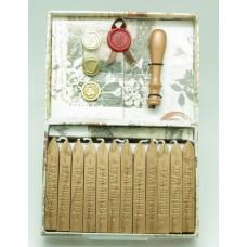 Wax seal set, wooden handle premium set