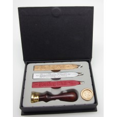 Wax seal set, wooden handle set